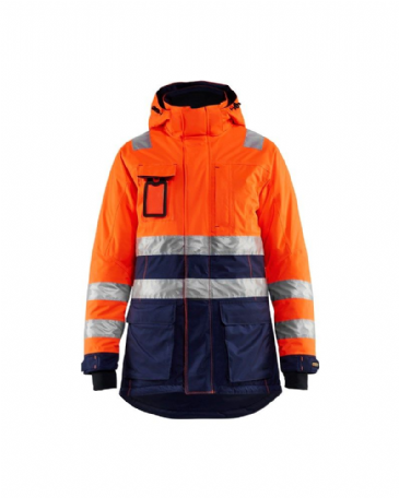 Blaklader 4472 Ladies High Vis Winter Parka (Orange/Navy Blue)